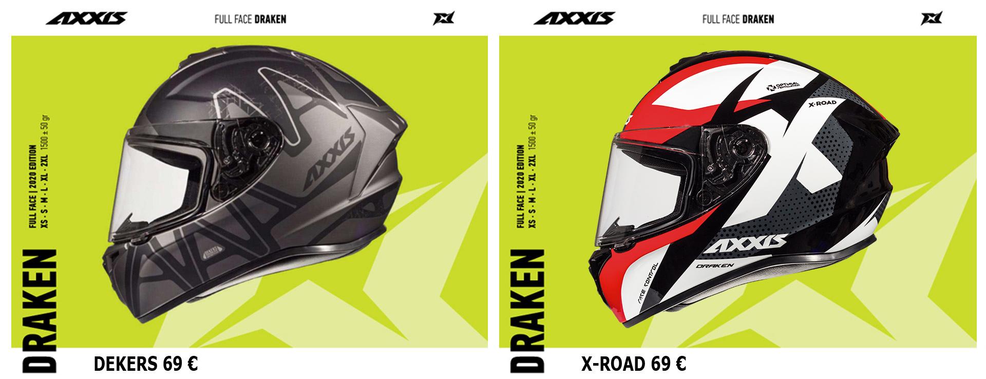 AXXIS HELMETS DRAKEN DEKERS & X-ROAD